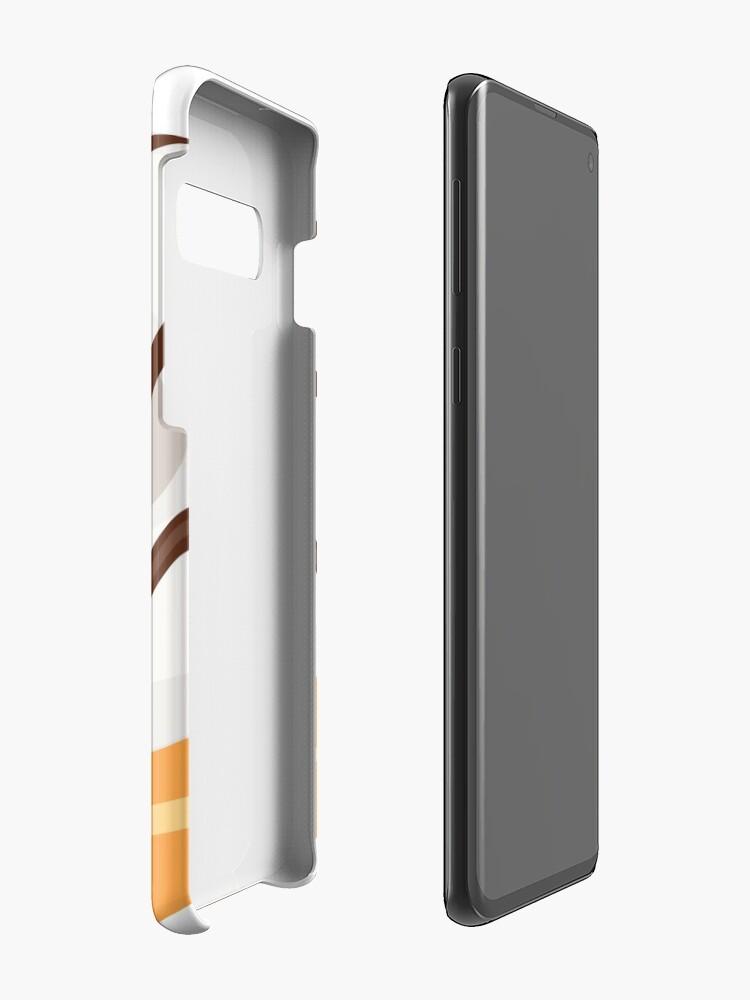 Alternate view of White Chocolate Glazed Donut Case & Skin for Samsung Galaxy