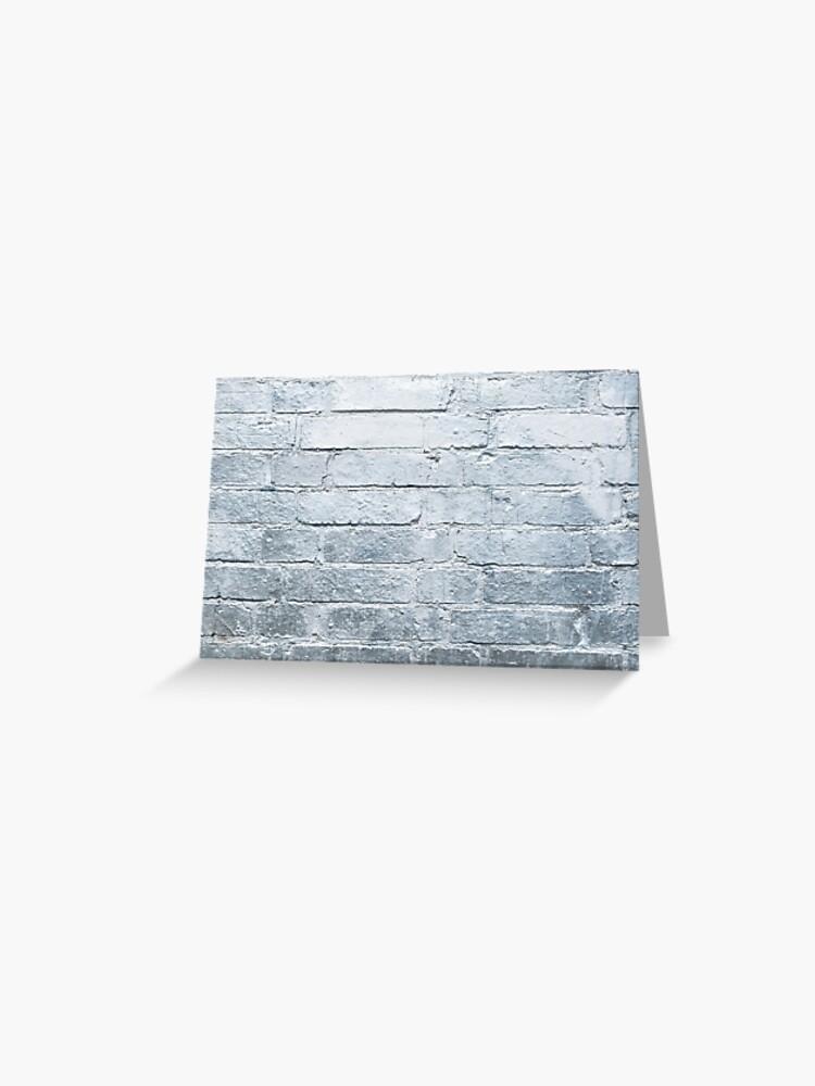 Fond De Mur De Brique Argent Peinture En Aérosol Couleur Chrome Carte De Vœux