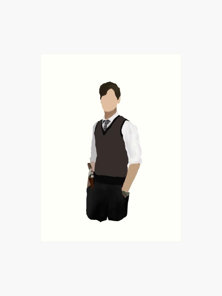 Spencer Reid / Matthew Gray Gubler Criminal Minds Sillouette Art   Art Print