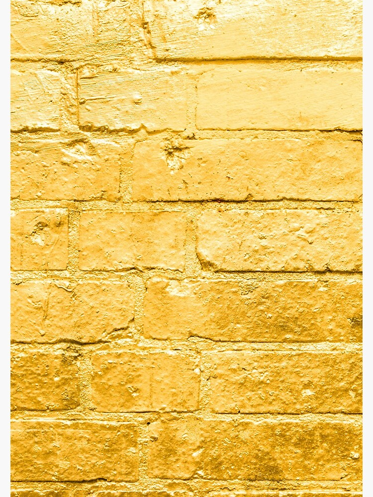 Golden Spray Paint Brick Wall Background Spiral Notebook