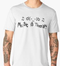 Music is therapy Men's Premium T-Shirt