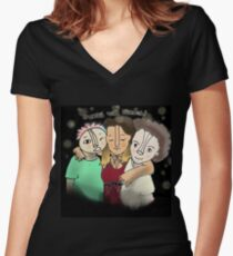 Embrace Your Friends Women's Fitted V-Neck T-Shirt