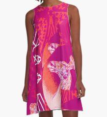 Tracy Porter / Roxy Attic: Elixr-Spice Pink A-Line Dress