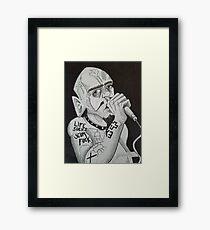 GG ALLIN Scum Art Framed Print
