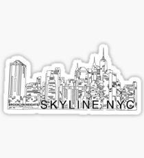 Line Skyline NYC Sticker