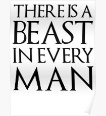 THERE IS A BEAST IN EVERY MAN  Poster