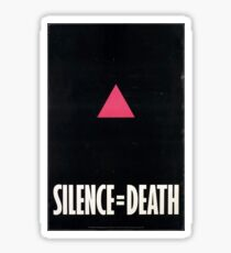 Silence=Death Fight Aids Sticker