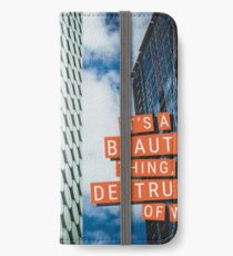 The Destruction of Words iPhone Wallet