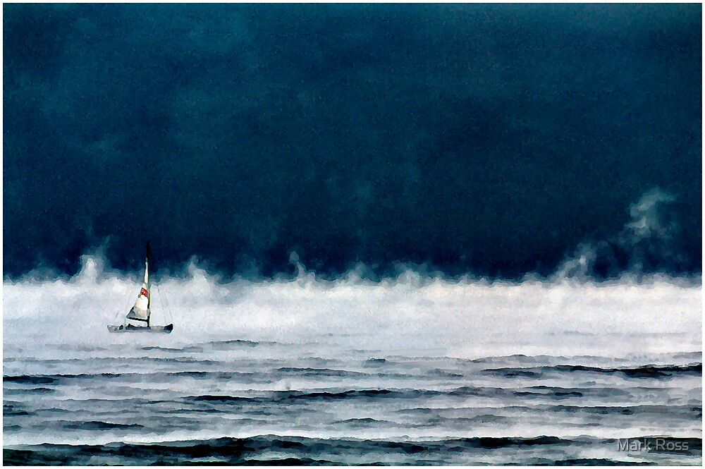 Sailboat Early Morn  by Mark Ross