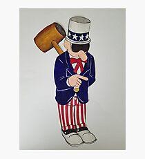 Western Uncle Sam Street Art USA Photographic Print
