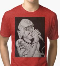 GG ALLIN Scum Art Tri-blend T-Shirt