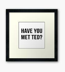 Have You Met Ted? Framed Print