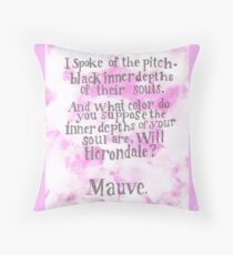 Will Herondale and Tessa Gray- Mauve Quote Throw Pillow