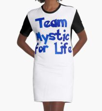 Pokemon Go - Team Mystic For Life Graphic T-Shirt Dress