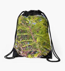 Under a tree Drawstring Bag