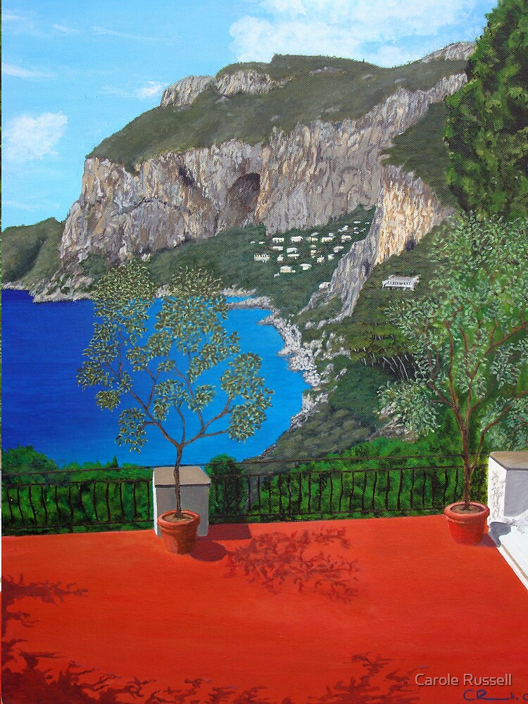 Red Terrace by Carole Russell