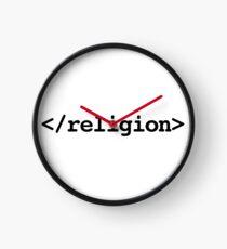 End Religion </religion> HTML Tag Clock