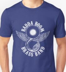 Badda Boom Brass Band White Logo Unisex T-Shirt