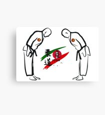 Judo Illustration Canvas Print
