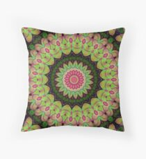 Succulent Plant Mandala 1 Throw Pillow