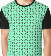 Cowboy Boot Pattern Graphic T-Shirt