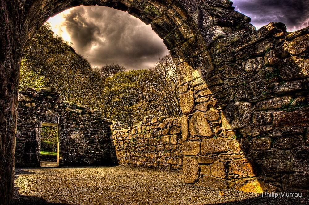 Inside Church of Slarquan ruins by Philip Murray