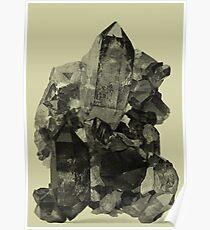 Vintage Crystal Mineral Poster