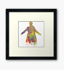 Sherlock Holmes Watercolour Splash Framed Print