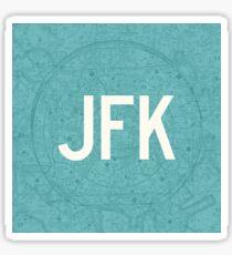 JFK New York (Kennedy) Airport Code Aeronautical Chart Sticker