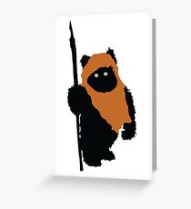Ewok Bear, Star Wars Greeting Card