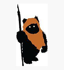 Ewok Bear, Star Wars Photographic Print