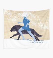 Running with the Wolves Wall Tapestry