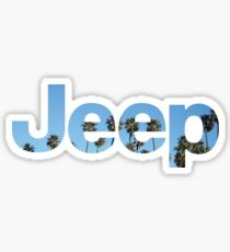 Jeep Palm Tree Sky Sticker