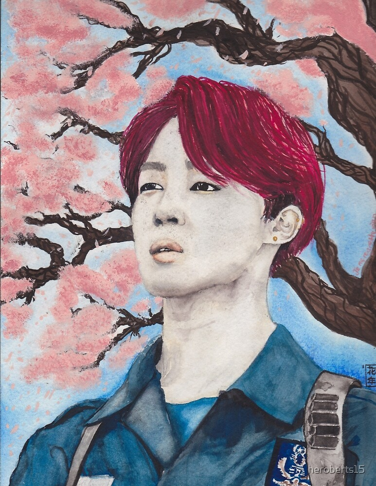 Bts Jimin cherry blossoms by Hope Roberts