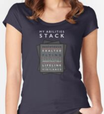 My Abilities Stack Women's Fitted Scoop T-Shirt