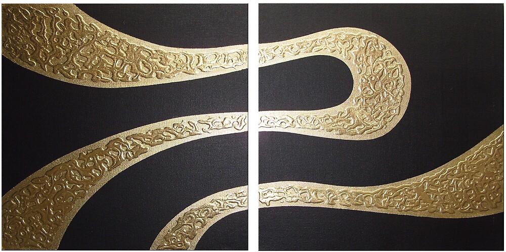 golden wave by minimalmagic