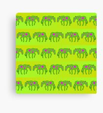 Spotted psychedelic horses Canvas Print