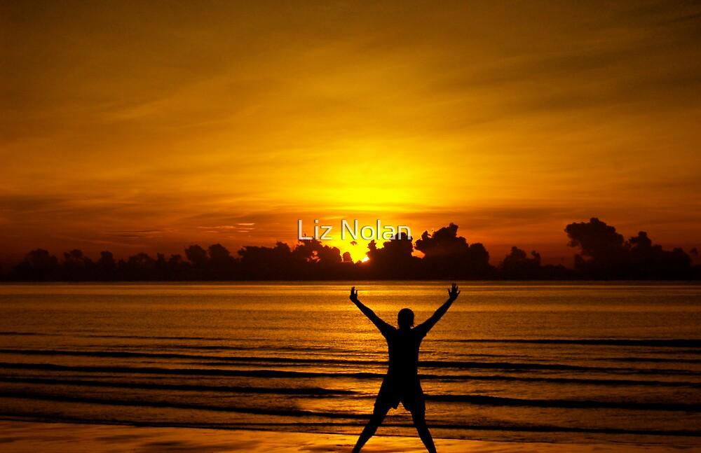 Sunrise in Thailand (me) by Liz Nolan