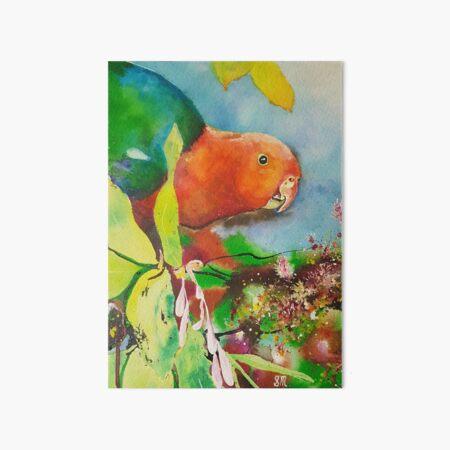 King Parrot Art Board Print
