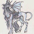 Celtic Knot Dragon Unicorn by Stephanie Small