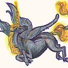 Flaming Fairy Unicorn by Stephanie Small