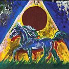 Horse and Pyramid by Stephanie Small