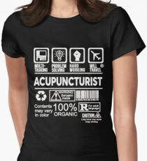 ACUPUNCTURIST BEST DESIGN 2017 Women's Fitted T-Shirt