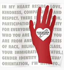 Heart...Hand...Safety...I Stand With You (TRN) Poster