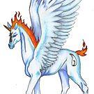 Winged Unicorn Foal by Stephanie Small