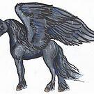 Black Winged Unicorn by Stephanie Small