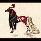 Red and Black Horse by Stephanie Small