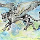 Winged White Tiger by Stephanie Small