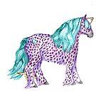 Pokadot Purple Pony by Stephanie Small