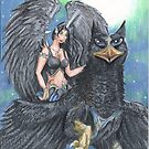 Griffon and Angel by Stephanie Small